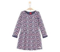 Kleid im Millefleurs-Design nachtblau / rosa