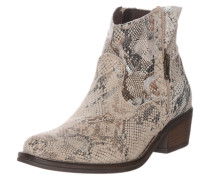 Boot in Reptil-Optik beige