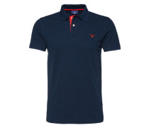 Polo-Shirt 'Rugger' blau / rot