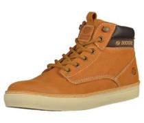 Sneaker cognac / dunkelbraun / goldgelb