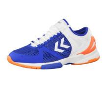 Handballschuhe 'Aerocharge HB' blau / orange / weiß