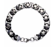 Armband 'Black silver 1286' schwarz / silber