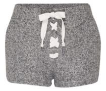 Shorts aus Fleece grau