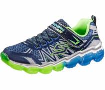 Sneaker blau / neongrün / silber