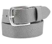 Ledergürtel mit Metallic-Muster stone
