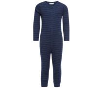 Schlafanzug Woll-/Baumwoll- blau / ultramarinblau / dunkelblau
