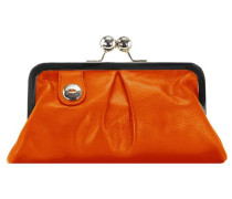 Darling Geldbörse Leder 227 cm orange / schwarz / silber