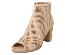 Ankle Boots mit Peeptoe 'Antonia' beige