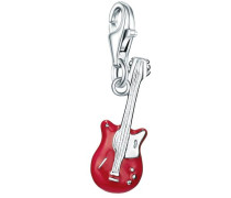 Charm Gitarre rot / silber