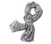 Schal mit modischem Muster blau