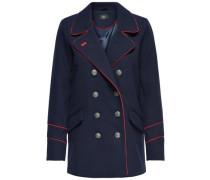 Detailreicher Mantel navy / rot