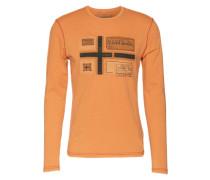 Langarmshirt mit appliziertem Front-Logo 'Seton' apricot
