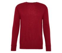 Pullover 'Tony' mit Quetsch-Nähten rubinrot