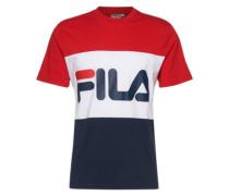 T-Shirt mit Logo-Print blau / rot / weiß