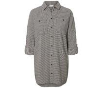 Oversize Hemd schwarz / naturweiß