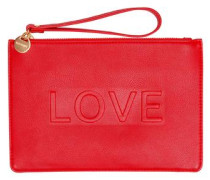 Clutch mit LOVE-Statement rot