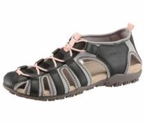 -Sandale schwarz