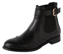 Chelsea Boots mit Lochverzierungen 'Slow' schwarz