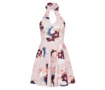 Choker-Kleid creme / rosa / dunkelrot