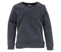 Sweatshirt mit klassischem Rundhalsausschnitt für Mädchen blaumeliert