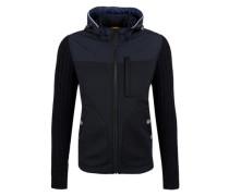Softshell-Jacke mit Strickärmeln nachtblau
