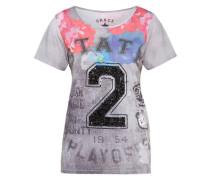 Gemustertes Shirt 'Shirt State 2' grau / mischfarben