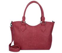 'Beatrisa' Nubuck Shopper Tasche 36 cm rot
