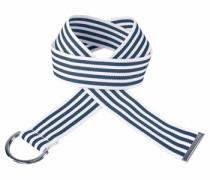 Stoffgürtel »im Streifen-Design« blau
