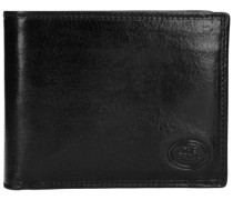 Story Uomo Geldbörse Leder 12 cm schwarz