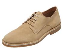 Veloursleder-Schuhe hellbeige