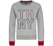 Sweatshirt »Damaris C-Nk Sweatshirt LS« dunkelblau / graumeliert / rot