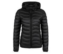 Outdoor-Jacke in Stepp-Optik schwarz