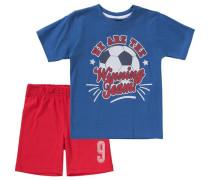 Set T-Shirt + Shorts für Jungen blau / rot
