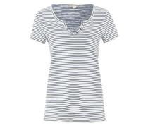 Shirt mit Streifen-Dessin blau