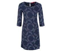 Crêpe-Kleid mit Musterprint blau