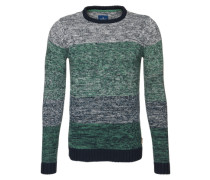 Pullover 'solid1/1' dunkelblau / grau / grün