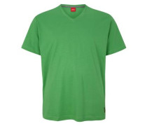 Baumwollshirt mit V-Neck grün