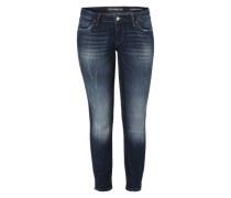 'Marylin 3 Zip' Jeans blau