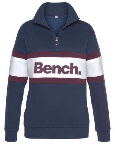 Sweatshirt marine / beere / weiß