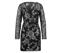 Abendkleid mit Pailletten schwarz / silber