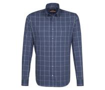 City-Hemd 'Slim' blau / weiß