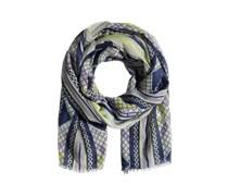 PIECES Schal mit Fransen 'Jimsa' lila/nachtblau/mischfarben