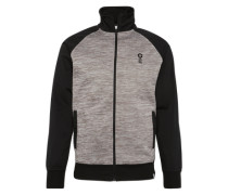 Sweatjacke 'jcoboom Sweat ZIP Turtle Neck' grau / schwarz