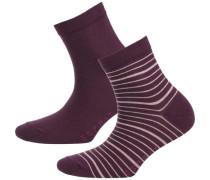 2 Paar Socken beere / rosa