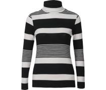 Rollkragenshirt schwarz / weiß