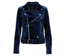 Bikerjacke in Samtoptik 'downtown' navy