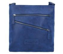 'Constanze' Vintage Umhängetasche 24 cm blau