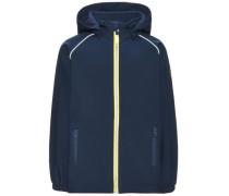 Softshell-Jacke Schlichte Alfa- blau / gelb