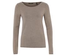 Shirt aus Feinstrick braun / grau