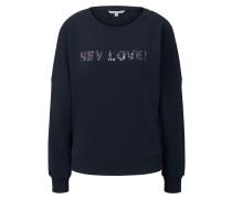 Strick & Sweatshirts Sweatshirt mit Pailletten-Schriftzug